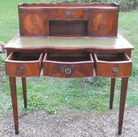 Mahogany Serpentine Front Writing Desk by Reprodux
